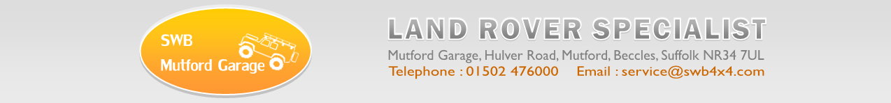SWB Mutford Garage Travel Banner